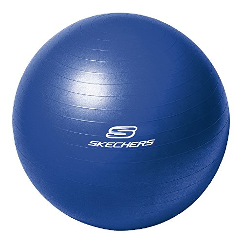 Skechers Sport Focus Series 65-Centimeter Blue Burst Resistant Fitness Ball With  2-Way Action Pump For Increasing Flexibility And Core Toning, KS3583BL by Skechers