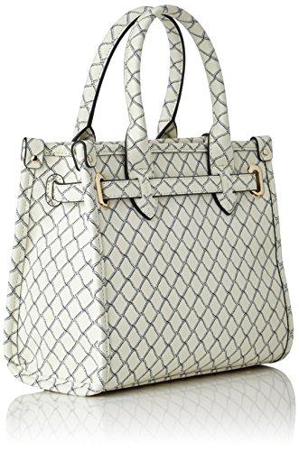 Tommy Hilfiger - American Icon Mini Tote Net, Bolsos totes Mujer, Weiß (Net Print), 12x20x23 cm (W x H D)