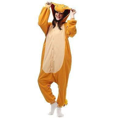 Charmander Onesie Adult Women Men Onesie Teen Animal Pajamas Unisex Cosplay  Plush Sleepwear for Girls  3a67dbca0