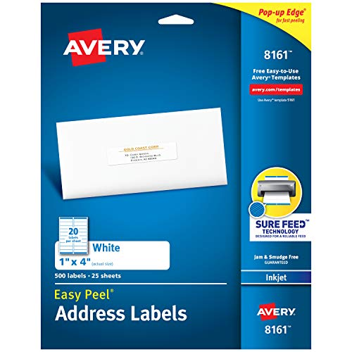 Avery Address Labels with Sure Feed for Inkjet Printers, 1