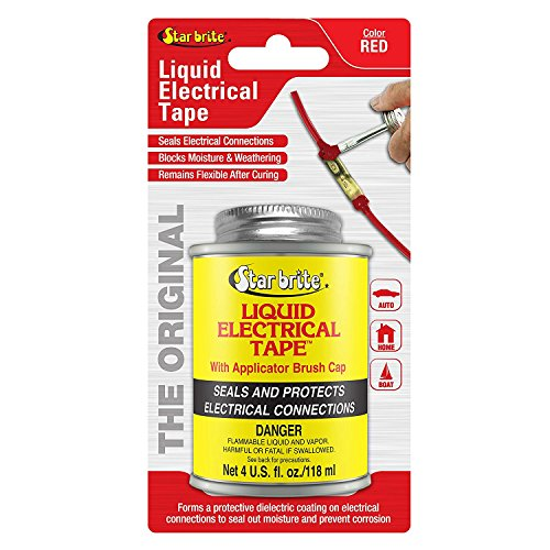 Plastic Waterproof Tape - Star brite Liquid Electrical Tape - 4 oz Can with Brush Applicator
