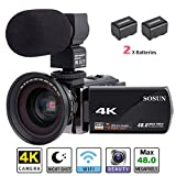 Best Video Camera 4ks - Camcorder,Video Camera 4K SOSUN 16X Digital Zoom Recorder Review
