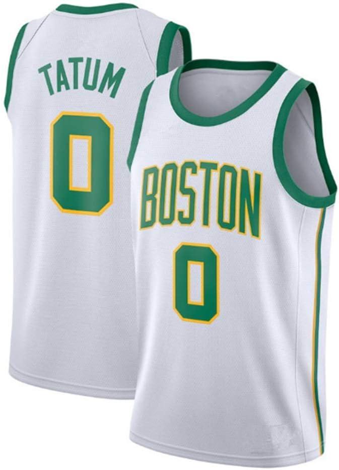 Boston Celtics #0 HANJIAJKL Camiseta de Baloncesto para Hombre Bordado Transpirable y Resistente al Desgaste Camiseta para Fan