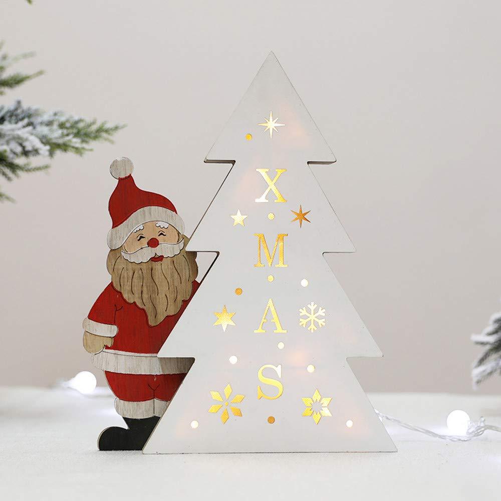 Holz Lichter Weihnachtsdeko Wawer Kreative Led Nachtlicht Batterie
