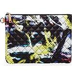MZ Wallace Metro Pouch Graffiti Print Style Zip Bag New