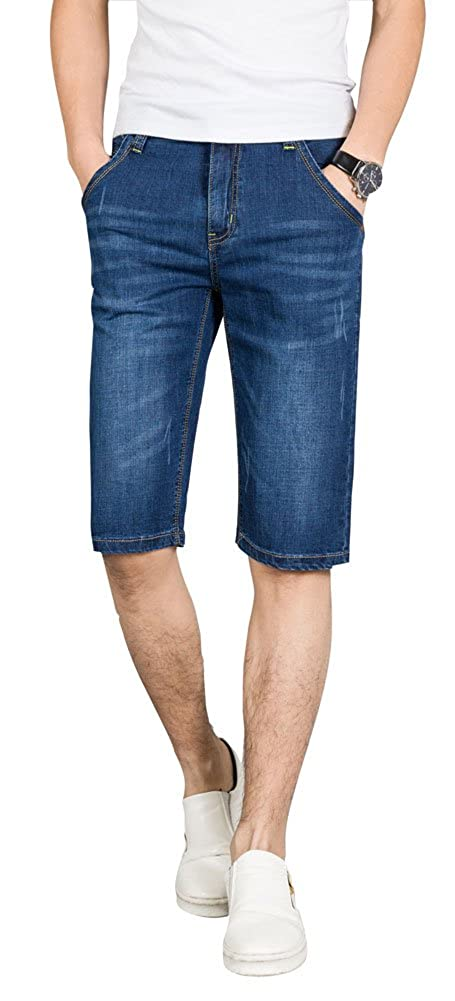 0be023a1537d8 This jean shorts is a good idea for slim and lean men  guys. Knee length denim  shorts are well received by men of all ages