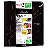 Five Star 2 Inch Zipper Binder, Ring Binder, Xpanz, Gray Lines Design (73228)