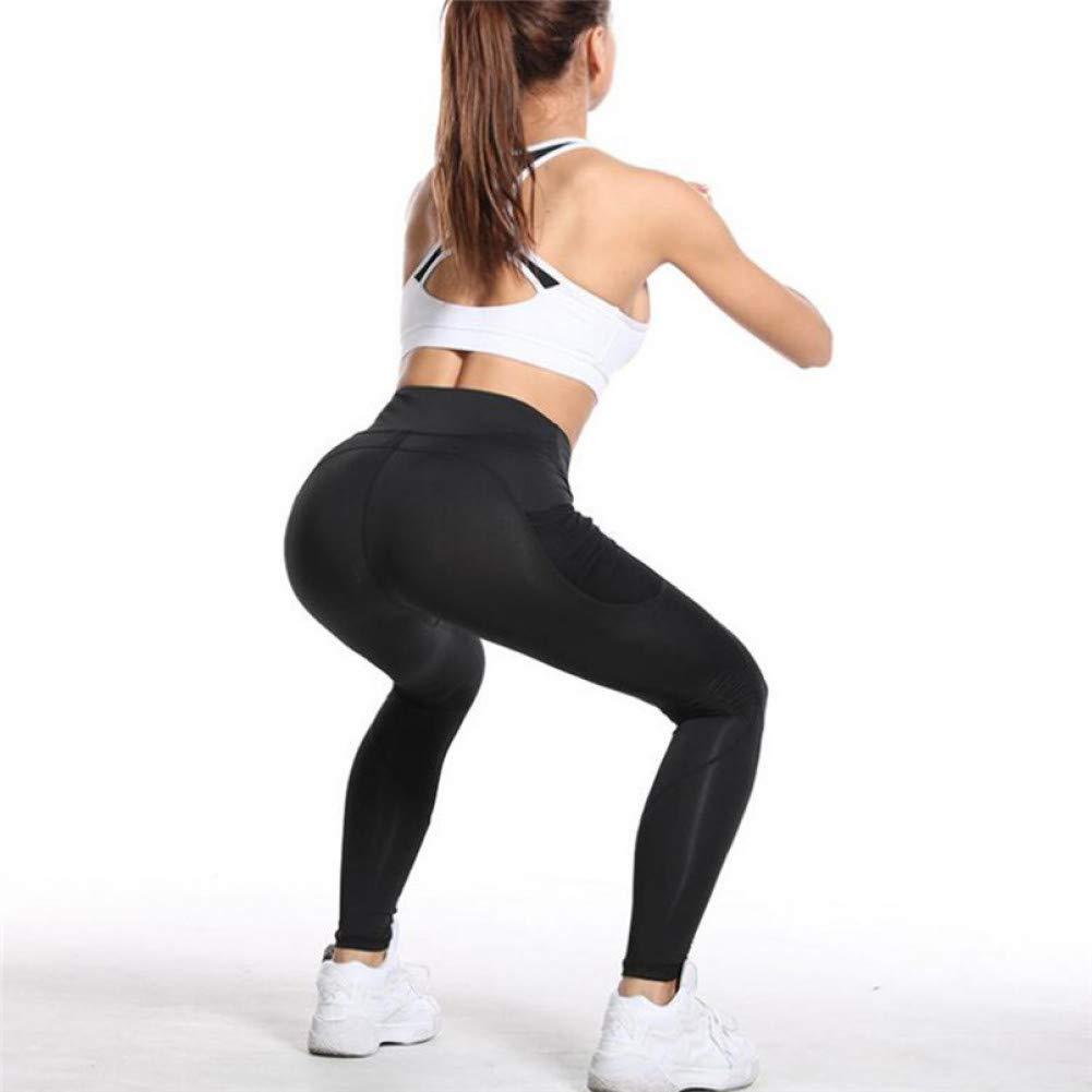 YUYOGAP Die sexy Netzstrumpfhose der Taschenyogahosenfrauen, die Fitnessgamaschenhüftenyogahosen Laufen lässt, drücken Gamaschen für Damen hoch