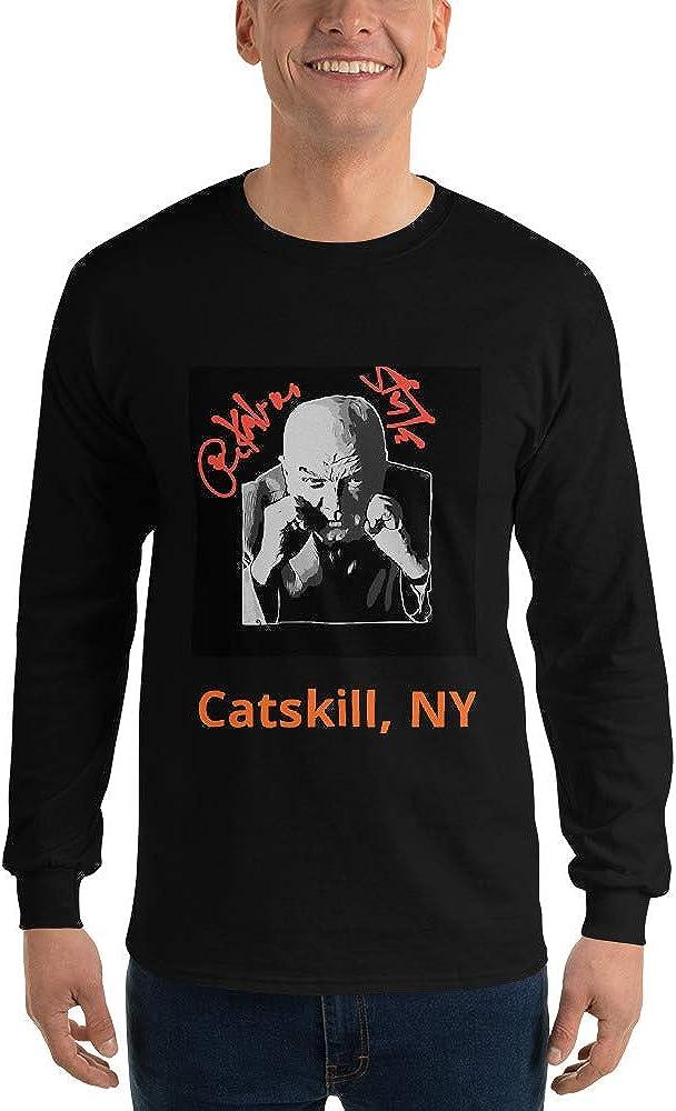 GoodtoGo Designs Boxing Cuss DAmato Peekaboo Style NY Mike Tyson Men/'s Long Sleeve Shirt Black