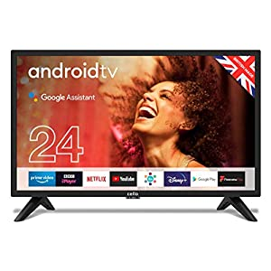 """Cello ZG0224 24"""" Smart Android TV with Freeview Play, Google Assistant, 3 x HDMI and 2 x USB, Made in the UK"""