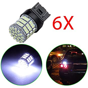 OCPTY 7443 7440 T20 W21W fit for Tail Backup Reverse LED Light 54-SMD Bulbs,2Pack