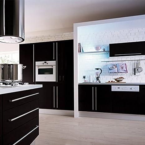 Kinlo folie küche schwarz 61x500cm aus hochwertigem pvc material aufkleber für schrank tapeten küche klebefolie möbel wasserfest selbstklebende folie