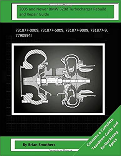 2005 and Newer BMW 320d Turbocharger Rebuild and Repair Guide: 731877-0009, 731877-5009, 731877-9009, 731877-9, 7790994I