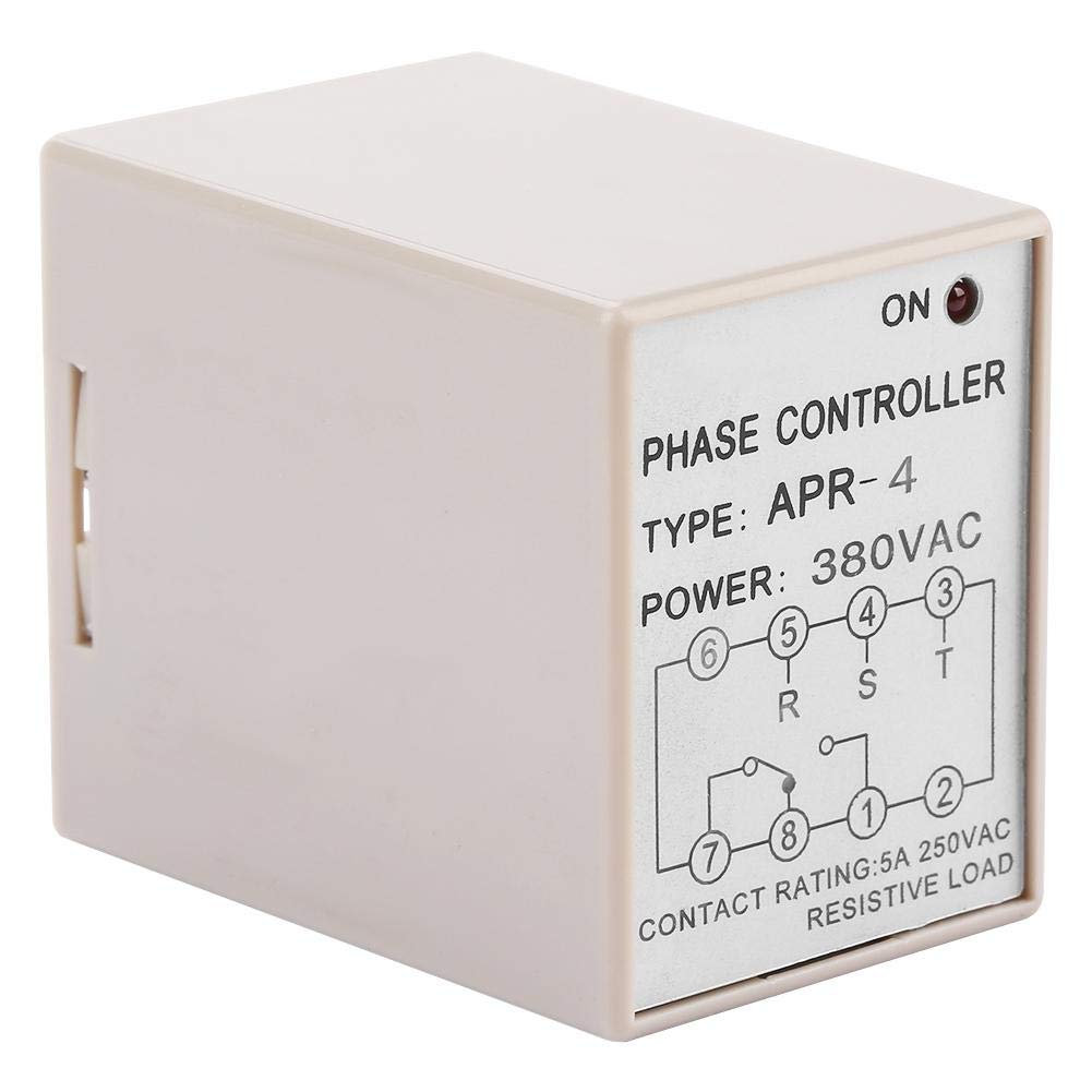 Really Good Quality Products,Not A Pile of Garbage Arrester Device 380VAC APR-4 Phase Loss Reverse Protection Relay Phase Sequence Controller 10A 220//380VAC
