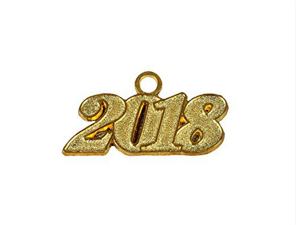 Graduation Cap Tassels with Free Moving Gold Year Charm 9-inch by YesGraduation (2018, Year Charm) 4337039305