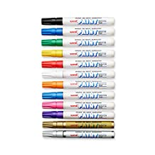 uni-ball uniPAINT Marker Paint, PX-20 Oil-Base Marker Medium, Pouch of 12, Assorted (63631)