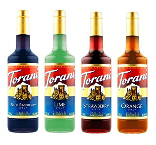 Torani Syrup Variety Pack, Soda Flavors, 4 Count (Drink Strawberry Syrup)
