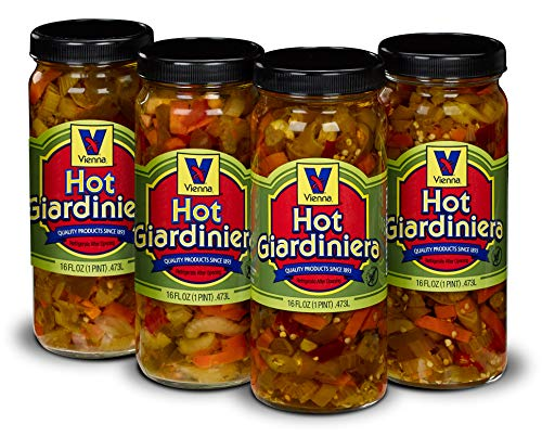Vienna Hot Giardiniera 4-Pack (4-16 oz. Jars)