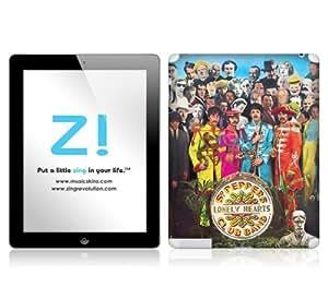 Zing Revolution The Beatles Premium Vinyl Adhesive Skin for iPad 2/ iPad 4, Sgt. Pepper's Image, MS-BEAT40351