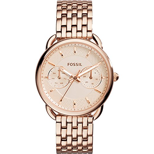 Fossil Women's Tailor Quartz Stainless Steel Dress Watch, Color: Rose Gold-Tone (Model: ES3713) by Fossil