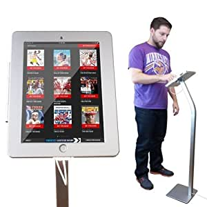 NEW Anti Thief 360 Degrees Rotation iPad Kiosk Floor Stand w Charging Cable