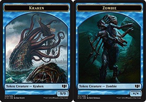 - Magic: the Gathering - Kraken Token // Zombie Token - Blue - Commander 2014