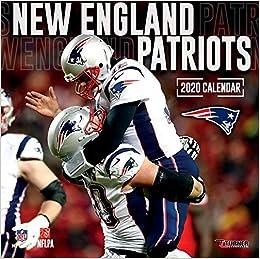 New England Patriots 2020.New England Patriots 2020 12x12 Team Wall Calendar Lang