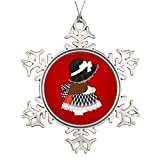 Xixitly Tree Branch Decoration Welsh Lady Design With Traditional Costume Cymru Photo Frame Snowflake Ornament