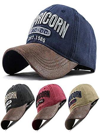 XGao Baseball Hats for Women Unisex Men Women Baseball Caps Cowboys Embroidered Denim Cap Adjustable Profile Hat D