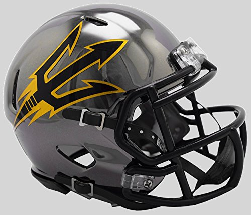 Riddell NCAA Arizona State Sun Devils Unisex Arizona State Sun Devils Helmet Replica Mini Speed Style Chrome Alternatehelmet Replica Mini Speed Style Chrome Alternate, Team Colors, One Size ()