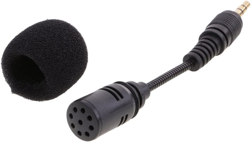 Short Wire 3.5mm Audio AUX-IN Smartphone or 3.5mm Mono Plug-In Interview Recording Condenser Microphone Mic for Laptops,PC,Phones Voice Amplifiers Black Standard 3.5mm Plug