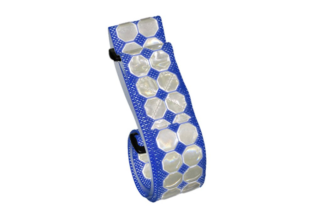Cyalume Military Issue Cyflect Luminous, Reflective PT Belt with Velcro Closure and Velcro Insignia-Attachment Swatch, 2-Inch W x 5-1/2-Feet L, Royal Blue 9-3012509B