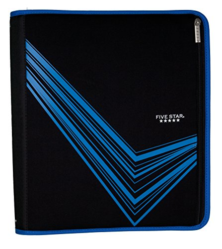 """Five Star 2"""" Zipper Binder, Removable Pencil Pouch Included,"""