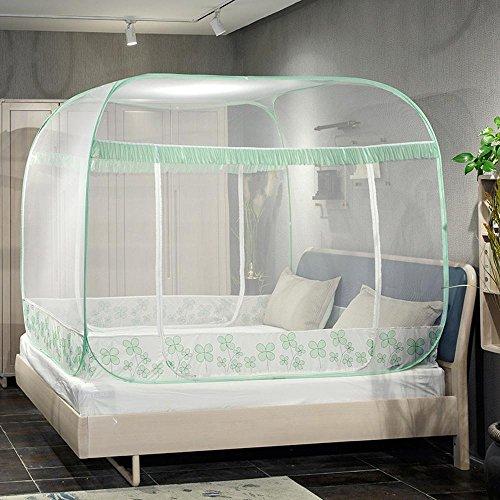 Ludage Non-InsGrößetion Jurten Square Top drei offenen Bett Moskitonetze