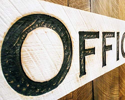 Horizonal OFFICE Carved Wooden Sign 40