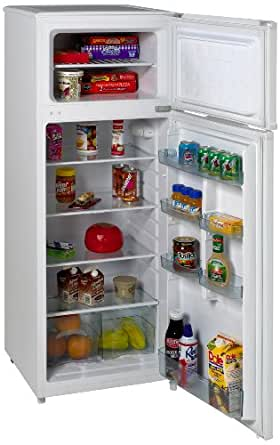 Amazon.com: Avanti RA7306WT 2-Door Apartment Size Refrigerator ...
