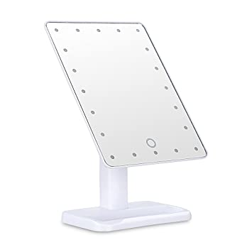 Ovonni L207 20 LEDs Touch Screen Makeup Mirror Adjustable LED Tabletop  Countertop Lighted Make Up
