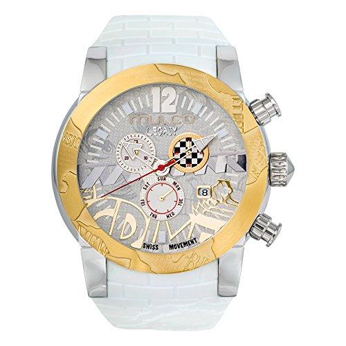 Mulco MW5-3701-012 Legacy Street Swiss Chronograph White Watch