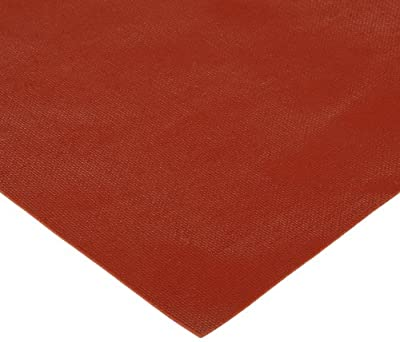 """CS Hyde Silicone Sponge Rubber, Closed Cell, Commercial Grade, Medium Density, Acrylic Adhesive, 0.032"""" Thick, Red, 12"""" Width, 12"""" Length"""