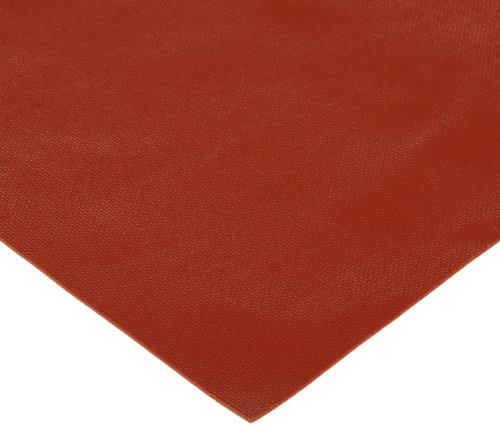 CS Hyde Silicone Sponge Rubber, Closed Cell, Commercial Grade, Medium Density, Acrylic Adhesive, 0.032'' Thick, Red, 12'' Width, 12'' Length by CS Hyde