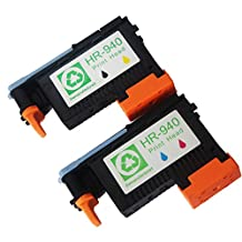 Ink Choice® 2 Pack 940 Print Head Replacement for Hp940 Printhead C4900a,c4901a Hp Officejet Pro 8000, 8500, 8500a 8500a Plus, 8500a Premium