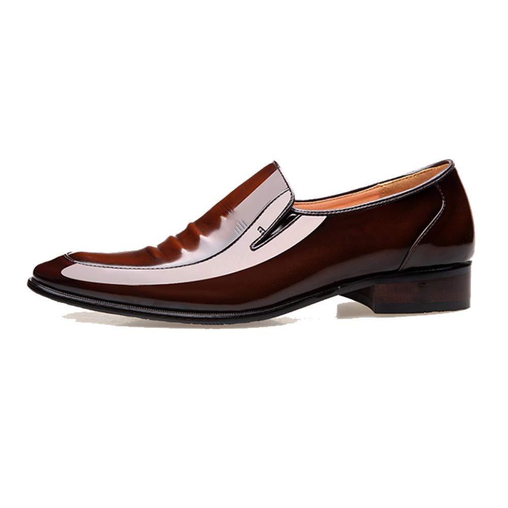 NIUMT Lackleder Herren Lederschuhe Britischen Stil Business Schuhes Wies Stilvolle Bequeme Faule Schuhes Business Braun 901729