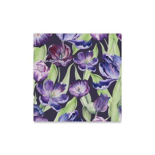 Watercolor Violet Tulip Purple Blossom Flowers