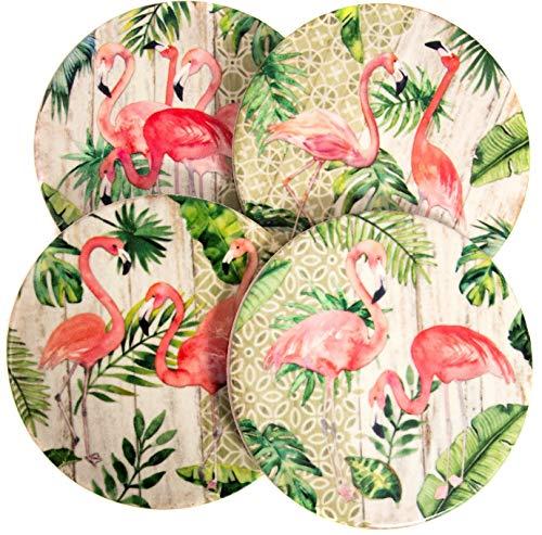 (Pink Flamingo Ceramic Coasters 4