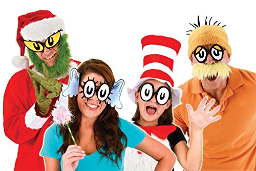 Dr Seuss Costumes Easy (elope Men's Dr. Seuss Cartoon Eyes Glasses, Multi, One Size)