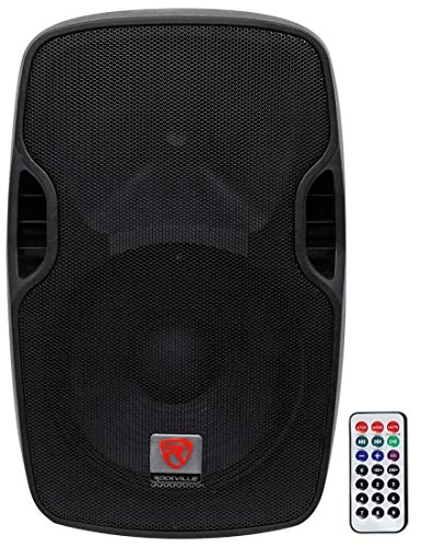 Rockville BPA12 12' Professional Powered Active 600w DJ PA Speaker w Bluetooth