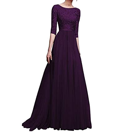 ae049e12467 Image Unavailable. Image not available for. Color  LOMONER Maxi Dresses for Women  Party Wedding Sexy Formal Bridesmaid Long Evening Prom Ball Gown Cocktail