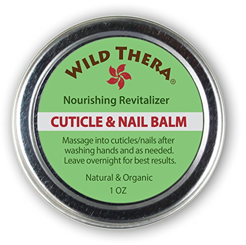 Wild Thera Herbal Cuticle Balm. Best Natural Cuticle Oil Heals Cracked and Rigid Cuticles. Cuticle Cream with Vitamin E, Olive & Coconut Oil, Cocoa Butter and Essential Oils.