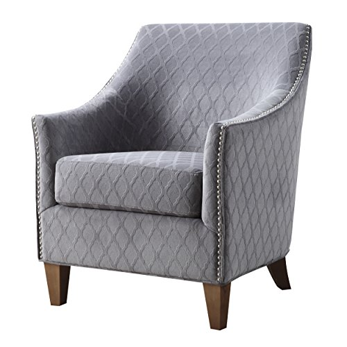 Emerald Home Kismet Chair with Diamond Pattern Fabric And Nailhead Trim 51jOevNNGiL