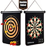 Gahoroy Magnetic Dart Board for Kids, Indoor Outdoor Board Games Set, Kids Toys Gift for Boys Girls Age 5 6 7 8 9 10 11 12 13 14 15 16 Years Old, Include 12pcs Dart Flights